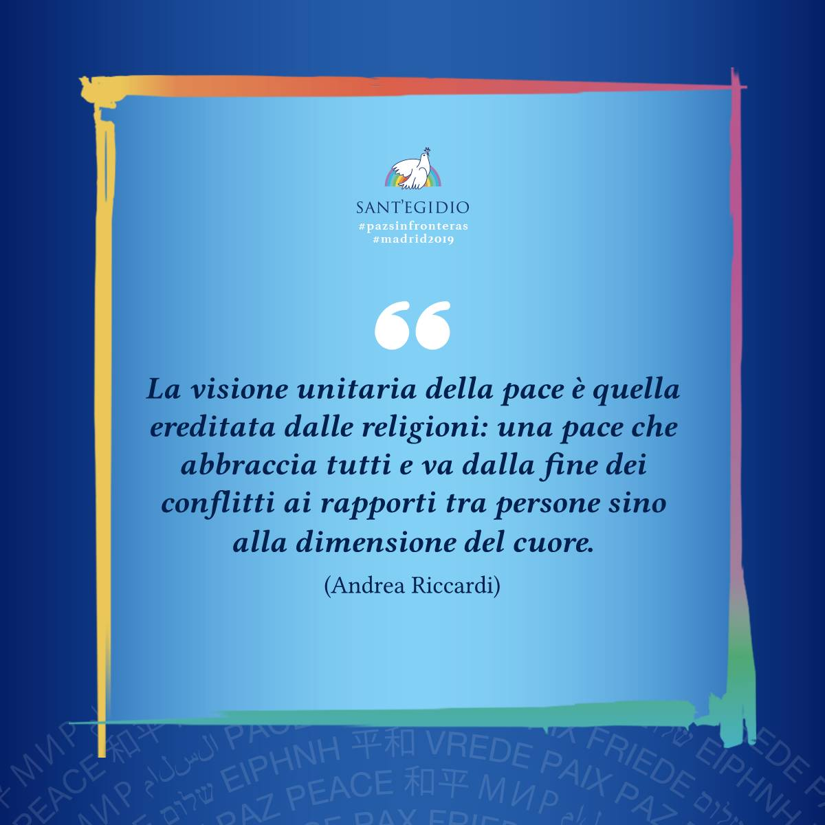 Intervention d'Andrea Riccardi