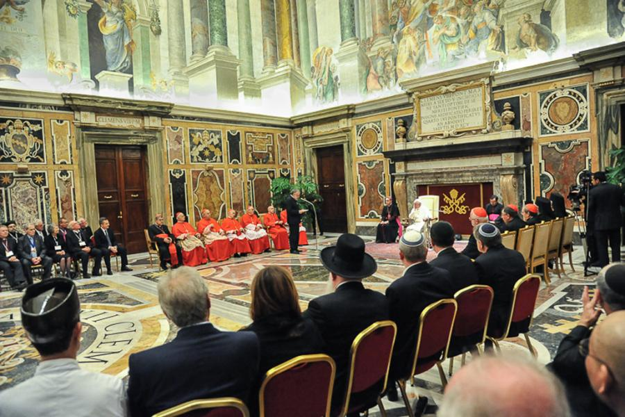 Udienza dei leaders religiosi con Papa Francesco in occasione del Meeting