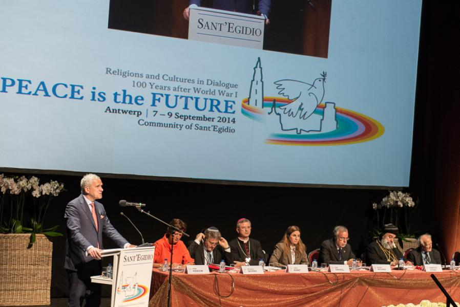 Opening Ceremony of Peace is the Future - Antwerpen 7 September 2014