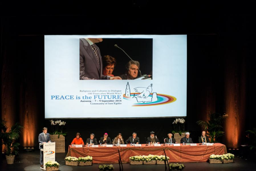 The Opening Ceremony of Peace is the Future in Antwerpen on September 7th 2014